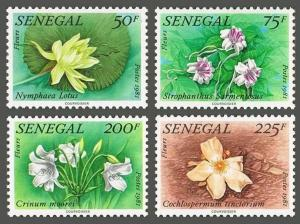 Senegal 552-554,MNH.Michel 755-758. Local Flora,1982.