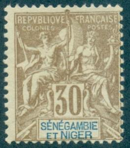 Senegambia & Niger #9  Mint  Scott $17.50   No Gum