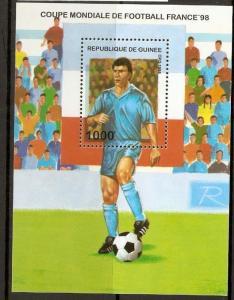 GUINEA SGMS1725 1997 WORLD CUP FOOTBALL M/SHEET  MNH