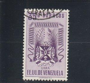 Venezuela  Scott#  526  Used  (1951 Arms of Lara)