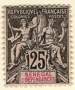 Senegal Sc #45 Fine Mint OG hr French Colonies are Hot!