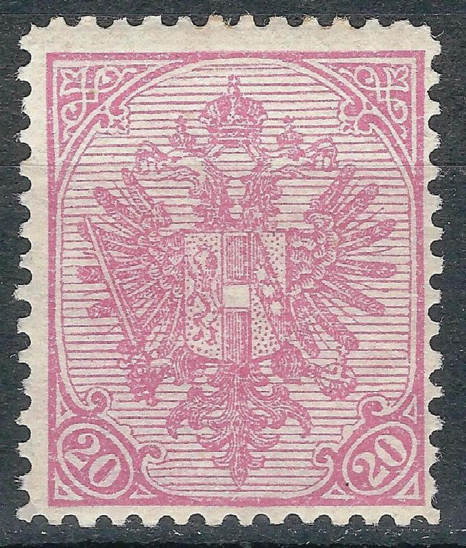 OLD AUSTRIA BOSNIA 1900.  20 heller RIBBED PAPER MINT NEVER HINGED   cat. 525€