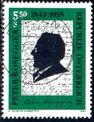 Peter Rosegger Writer Austria Stamp SC1617 Used HipStamp