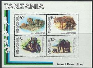Tanzania Scott 240a MNH! Wild Animals! Souv. Sheet!