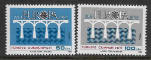 TURKEY, 2275-2276, MINT HINGED, EUROPA ISSUE