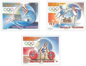 New Caledonia - Beijing Olympics  Set of 3 NEW0808