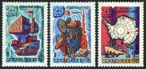 Russia 4897-4899,MNH.Michel 5028-5030. Soviet Antarctic research,25th Ann.1981.