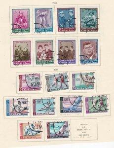 AJMAN ^^^^^^1964   used  on page ( KENNEDY + OLYMPICS)   @ ha 2019xxbajm