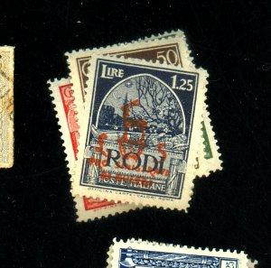 Italy Rhodes B9-14 MINT FVF OG NH Cat$60