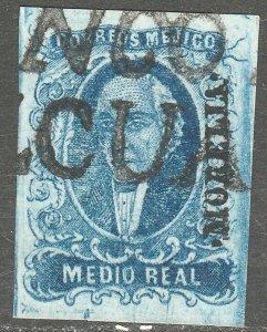 MEXICO-Morelia-Pazcuaro 1,  ½Real. Used. VF. (182-77)