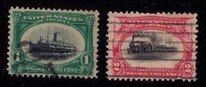 US Sc 294-295 Used F-VF (1901):