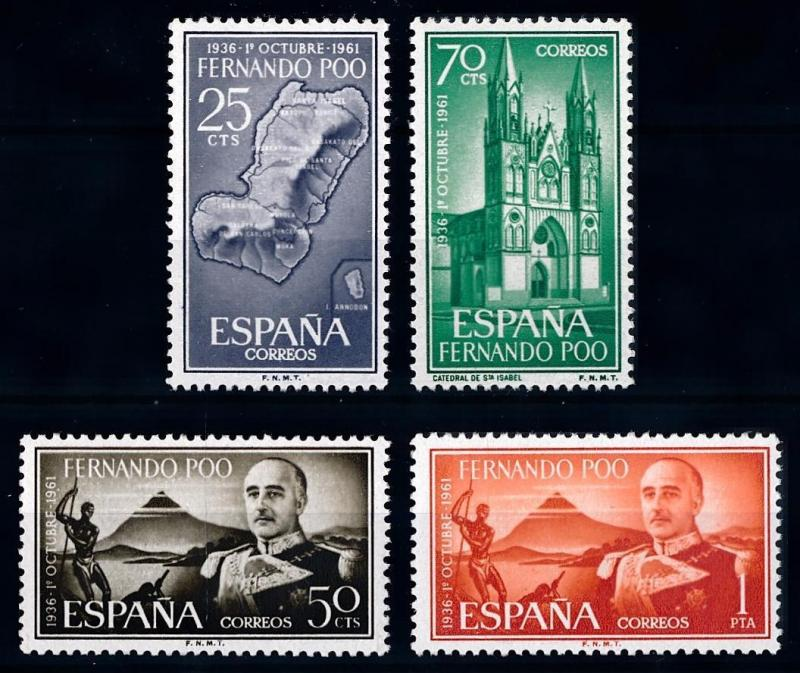 [68131] Spanish Colony Fernando Poo 1961 General Franco Cathedral  MNH