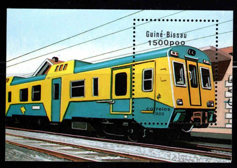 Guinea-Bissau MNH S/S 802 Train 1989 SCV 5.75
