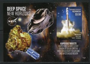 NEVER BEFORE OFFERED RARE MICRONESIA DEEP SPACE NEW HORIZONS  S/S  IMPERFORATE