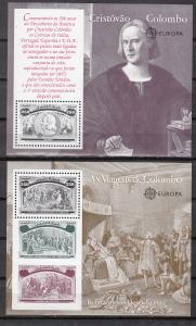 Portugal, Sc # 1918-1923, MNH, 1992, Columbus (6 Sheets)