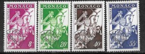 Monaco # 466-69  Knight - precancelled      (4)  Mint NH