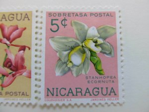 Nicaragua 1962 Orchids 5c fine mng postal tax stamp A11P11F101