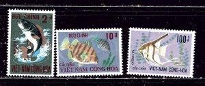 South Vietnam 402-04 MNH 1971 Fish