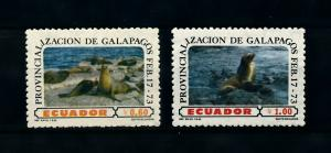 [99698] Ecuador 1973 Marine Life Seals From set MNH