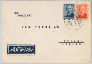 58481 -  TURKEY - POSTAL HISTORY: COVER to ITALY  1948
