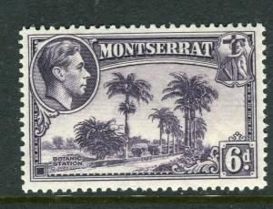 MONTSERRAT; 1938 early GVI issue Mint hinged Shade of 6d. Perf 14 value