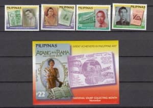 Z3039  2002 philippines mnh set, + s/s #2802-6 designs