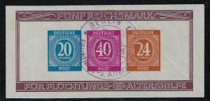 Germany AM Post Scott # B295, used, s/s, special cancellation