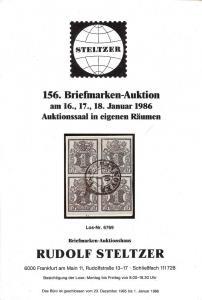 Steltzer: Sale # 156  -  156. Briefmarken-Auktion, Steltz...