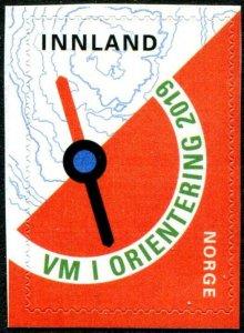 HERRICKSTAMP NEW ISSUES NORWAY Sc.# 1875 World Orienteering 2019 Self-Adh.