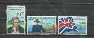 Norfolk Island Scott catalogue # 222-224 Mint NH