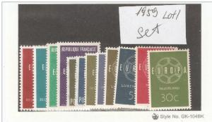 1959 Year Europa Issue,VF MNH** (AR-1) Lot 1
