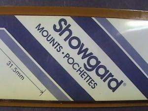 SHOWGARD MOUNTS # 31--215MM LONG x 31MM WIDE---22 STRIPS---BLACK /NEW