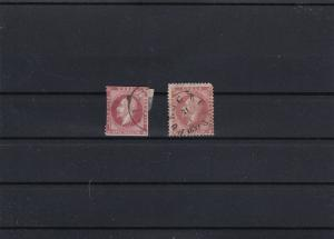 norway early used stamps cat £100 ref r8831