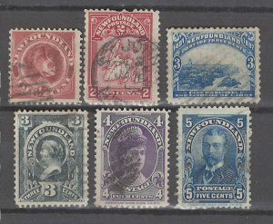 COLLECTION LOT # 3221 NEWFOUNDLAND 6 STAMPS 1887+ CV+$21