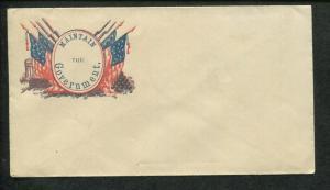 1861 United States Patriotic Civil War Era Propaganda Postal Cover