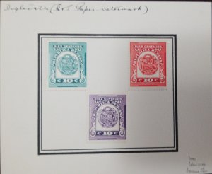 O) 1949 PERU, ESSAYS PROOF - RARE, SURVIVED THE LONDON WWII BOMBS, REVENUE STAMP