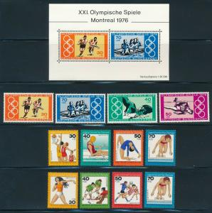 Germany - Montreal Olympic Games MNH Set (1976)
