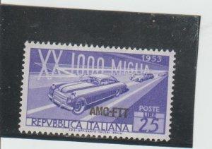 Trieste  Scott#  166  MH  (1953 Overprinted)