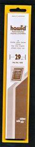 Hawid Stamp Mounts Size 29/210 BLACK Background Pack of 25