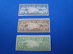 UNITED STATES 1926 AIRMAIL - SCOTT #C7-C9 -   MLH