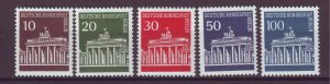 J24934 JLstamps 1966-70 germany berlin set mnh #9n251-5  buildings gate