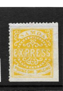 SAMOA  1877-80 1/-  DULL YELLOW   EXPRESS   MNG   SG 7