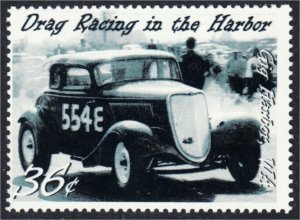 Drag Racing in Gig Harbor Washington Fantasy Stamp Artistamp by BoltPost