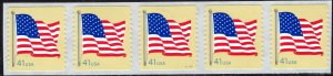 4189 MNH PNC(5) 41¢ Flag coil format, perf. 11 - no per item S&H fee