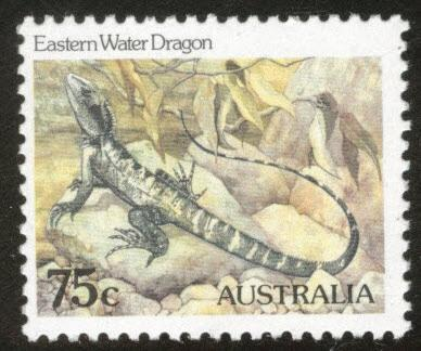 AUSTRALIA Scott 797 MNH** 1981 75c Eastern Water Dragon