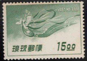RYUKYU (Okinawa) Scott C9 MNH** Heavenly Maiden playing flute in flight