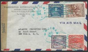 SALVADOR 1944 censor cover to USA..........................................27428