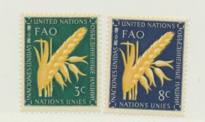 United Nations (New York) Scott #23 To 24 From 1954, Mint Never Hinged MNH - ...