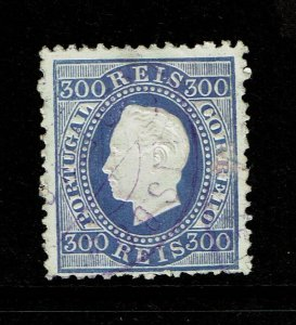 Portugal SC# 50a, Used, perf 12.5, some surface scratching, some toning - S10058