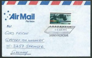 AUSTRALIA 1992 cover to Germany - nice franking - Sydney pictorial pmk.....12825